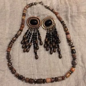 Albequerque made bead necklace and earrings
